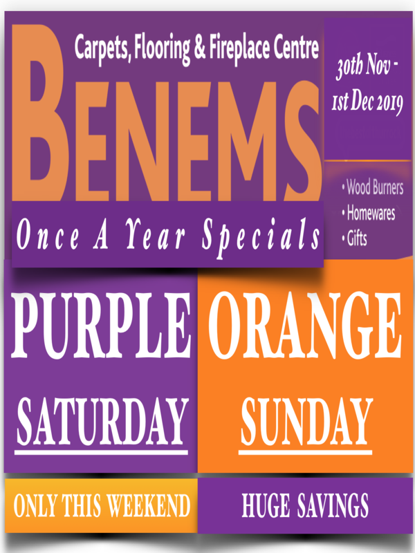 Forget Black Friday...Benems does Purple and Orange Weekend