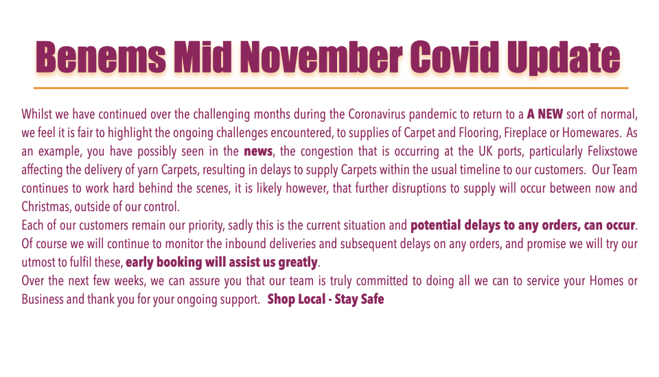 Status Update for Covid trading Mid November 2020