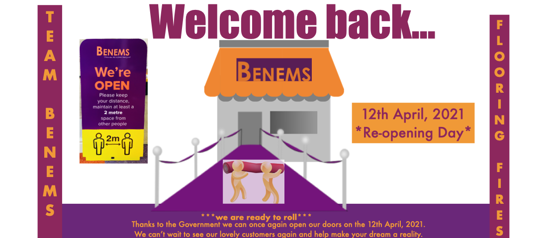 We are reopening 12 April 2021